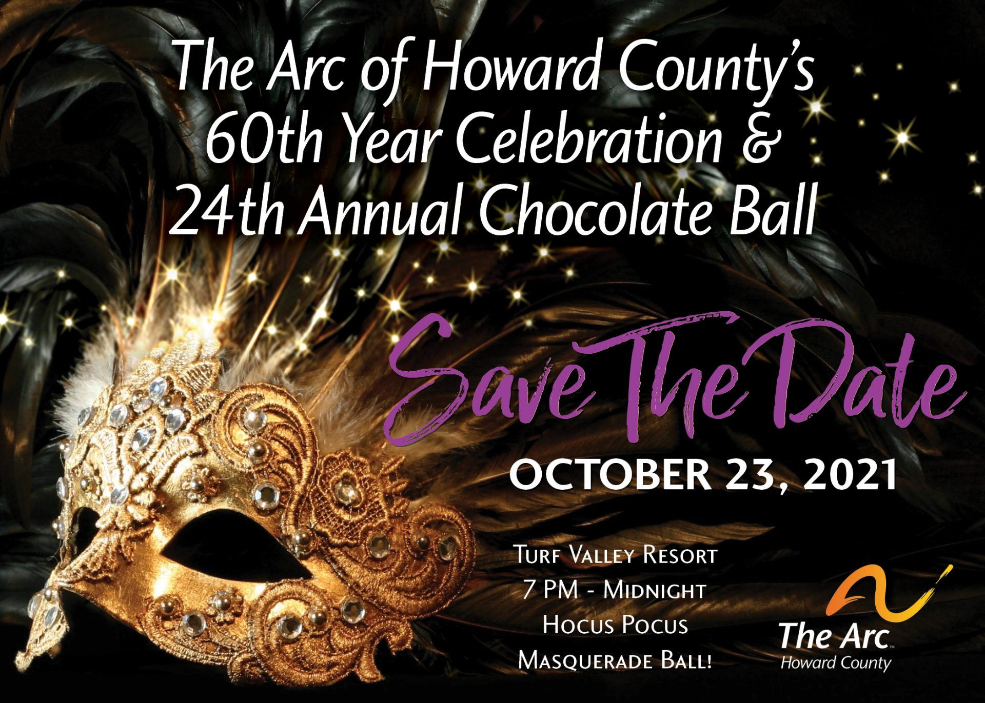 Save the Date for the 60th Year Celebration and 24th Annual Chocolate Ball