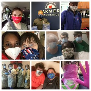 Masks, Face Shields, Safety Gloves, Gowns, and PPE