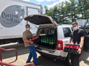 Putting on the Ritz Catering Donated Cases of Soda to The Arc of Howard County!