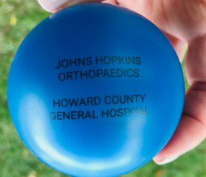Stress Ball from Johns Hopkins Medicine-Orthopaedic Surgery