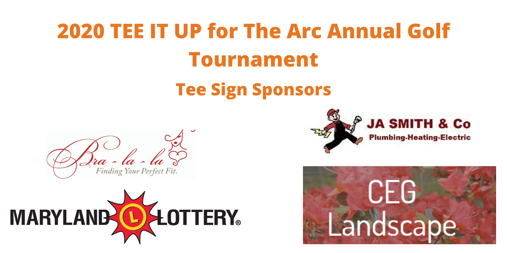 Tee Signs for TEE IT UP for The Arc Annual Golf Tournament